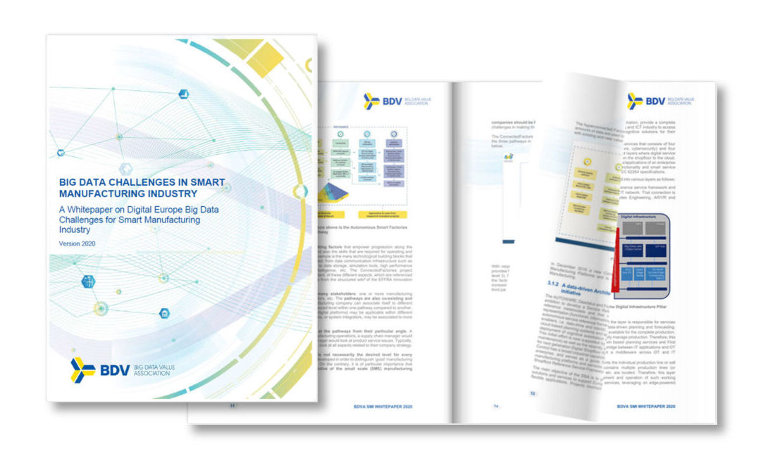 "New BDVA White Paper on ""Big Data Challenges in Smart Manufacturing Industry"""