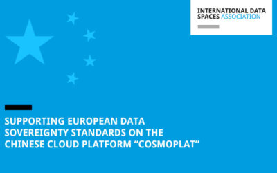 """Supporting European Data Sovereignty Standards on the Chinese Cloud Platform """"COSMOPlat"""""""