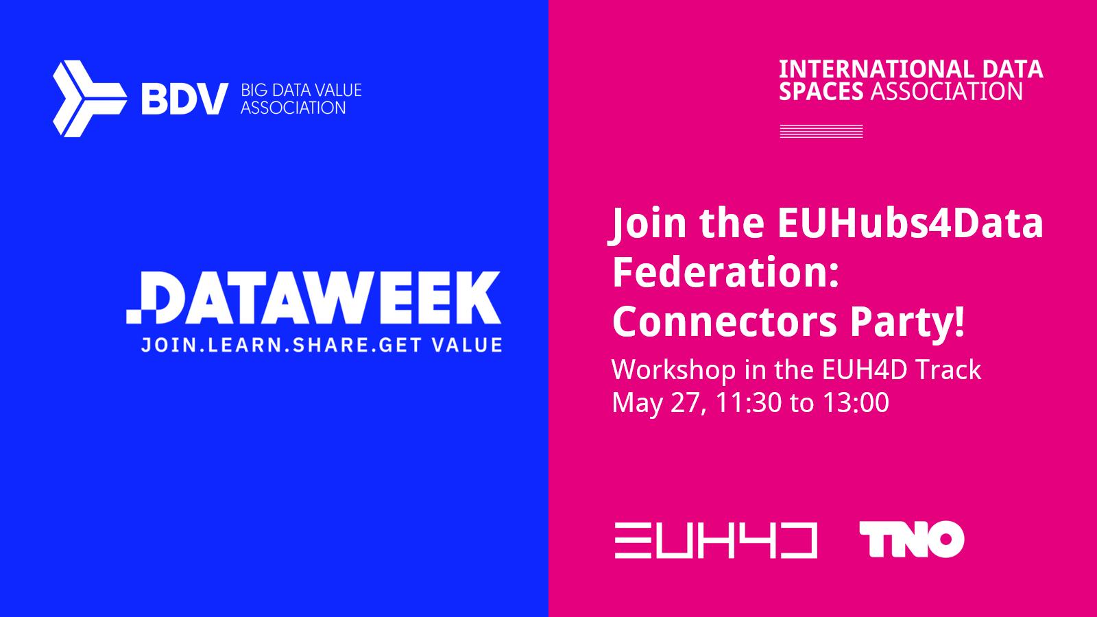 BDVA Data Week 2021 | Workshop: Connectors Party