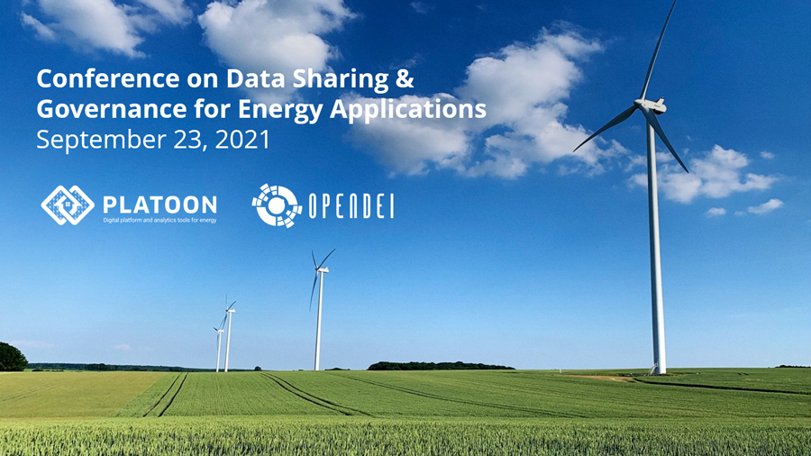 PLATOON & OPEN DEI | Conference on Data Sharing & Governance for Energy Applications