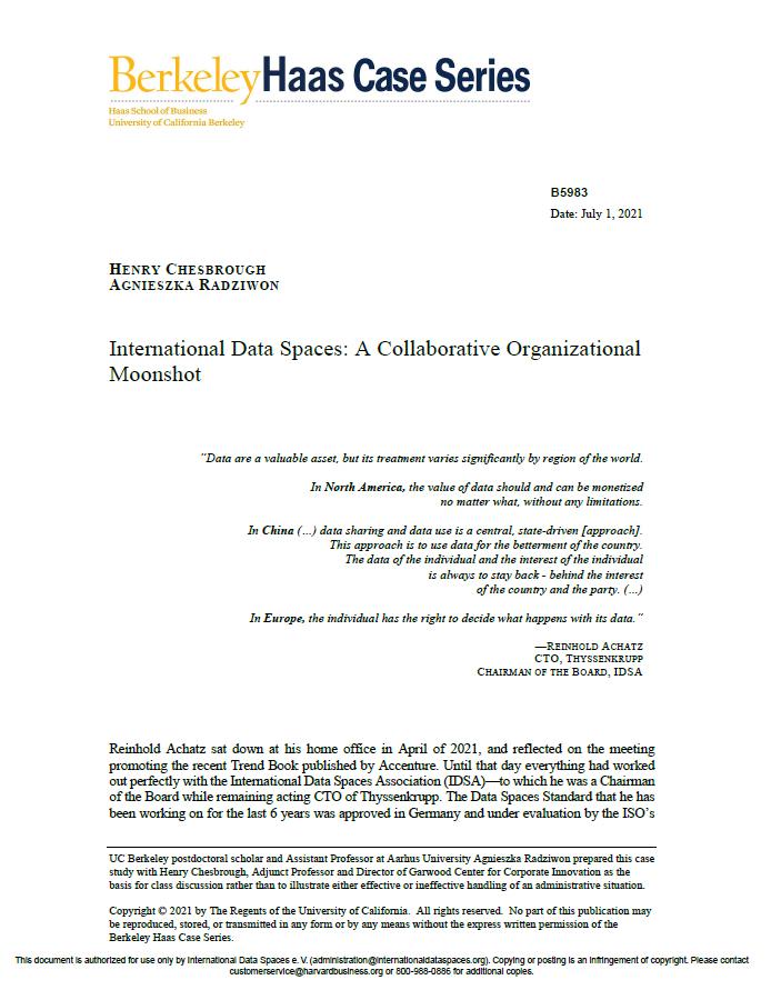 International Data Spaces A Collaborative Organizational Moonshot
