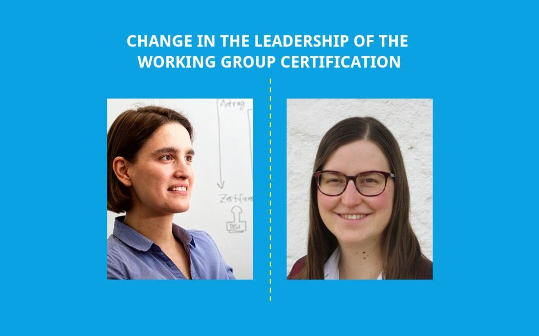 Working Group Certification Elected New Co-Chair